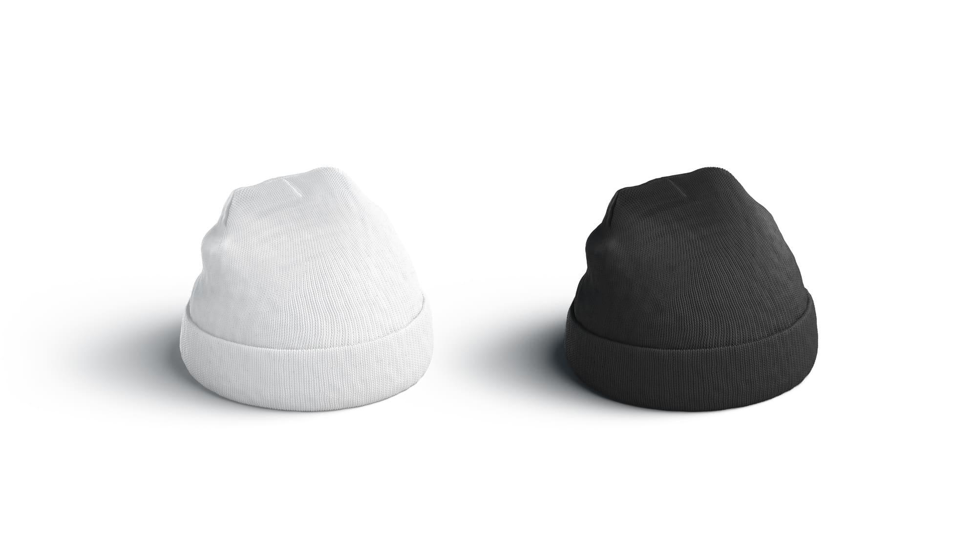 白と黒の帽子