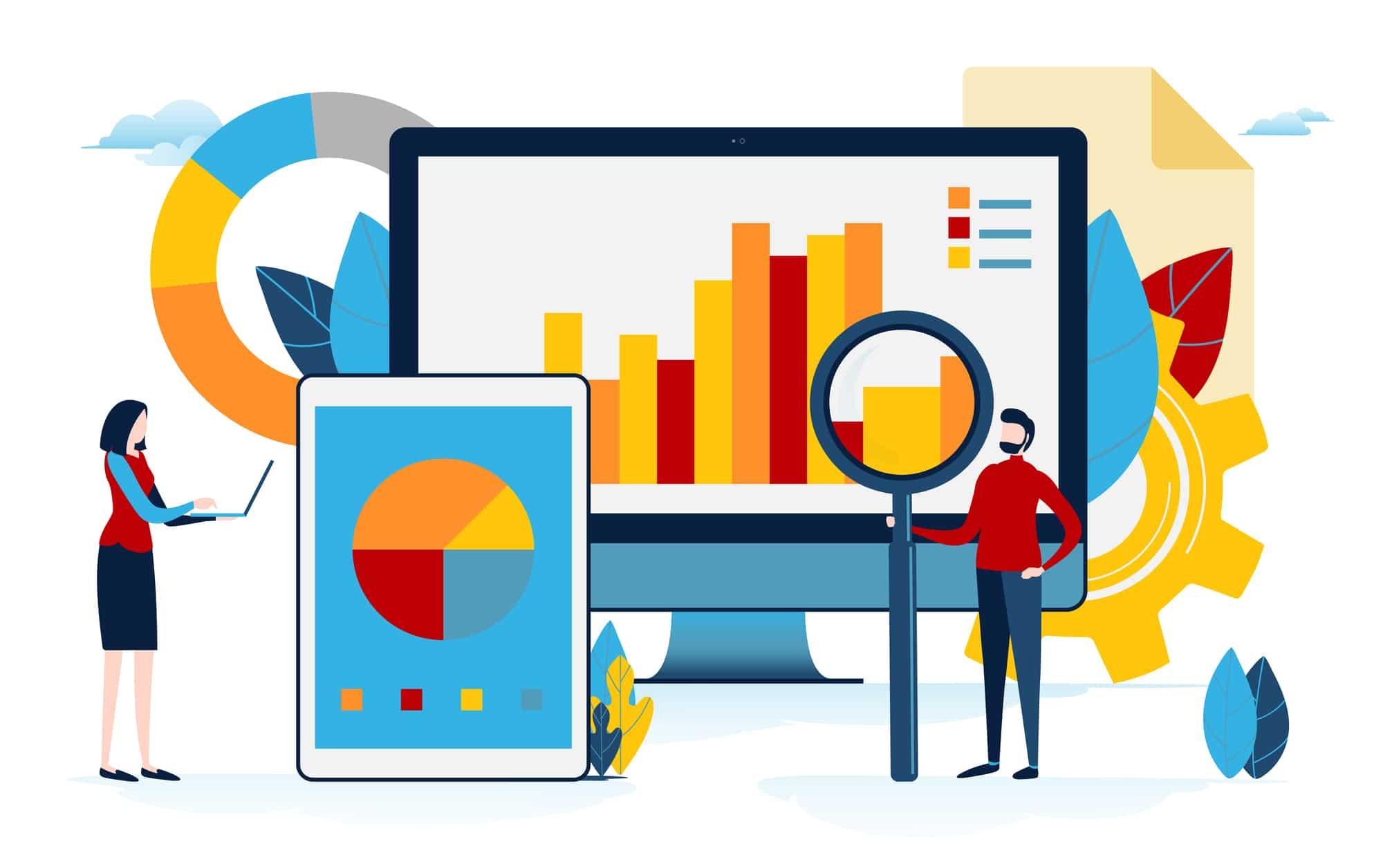 Webマーケティングに使うツールのイラスト
